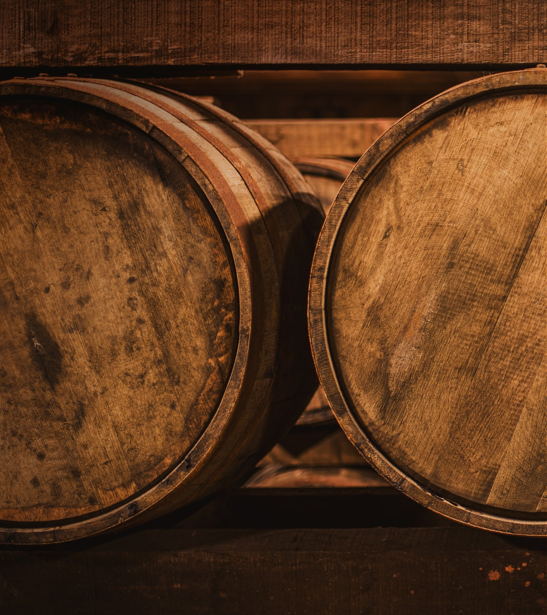 passport scotch background with american barrels end on